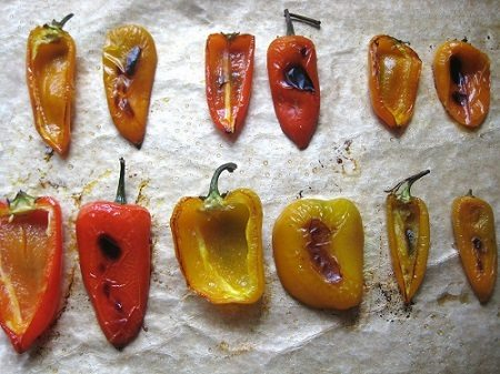 Smoked Peppers Aluminum Foil