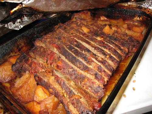 Reheating Brisket using Oven