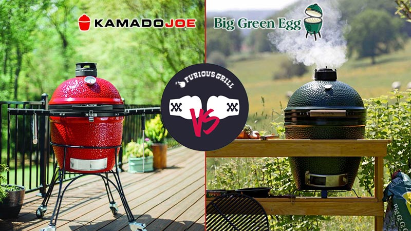 Kamado Joe Vs Big Green Egg Reviews Features Built