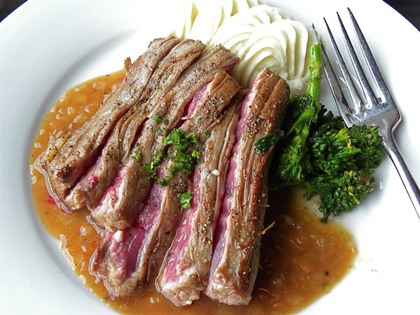 Flank-Steak-in-Shallot-Sauce
